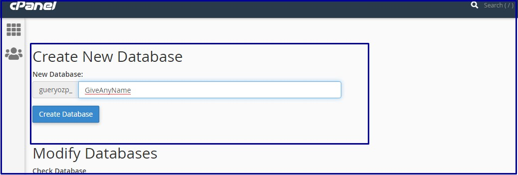 Create Database Preview