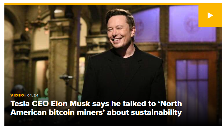 elon musk talking about bitcoin prices pumping